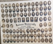 Ted Applegate's 1929 graduation class, Indiana University Medical School