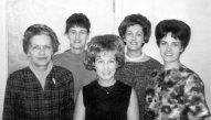 Maggie, Ann, Sue, Grace, Barb, 1966
