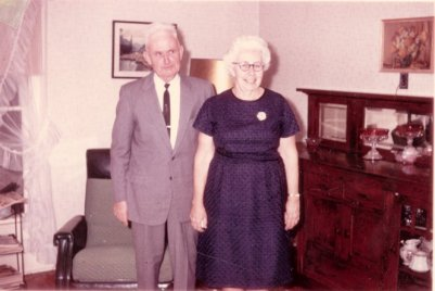 Lowell and Mabel Sibert, owners of the farm in White Cloud, where we loved to visit