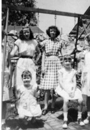 Ann on right, Rica, Barb, unknown