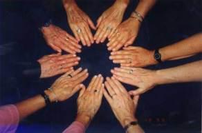 Hands of the 5 Applegate girls, April 1999