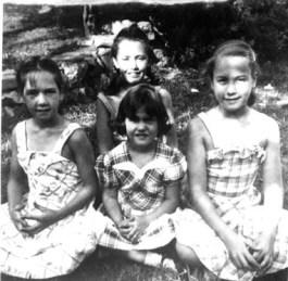 Rica, Grace, Barb, Sue 1948
