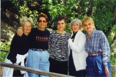 Sue, Grace, Barb, Rica, Ann, April, 1999, New Braunfels reunion