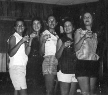 Barb, Rica, Grace, Sue, Ann, Sept. 1958