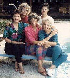 Ann, Rica, Grace, Barb, Sue, 1986