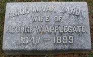 Anna M. Van Zandt (1847-1899) headstone
