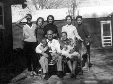Ann, Sue, Grace, Rica, Barb, Ted, Maggie, Pete, Julie, Monahans 1957