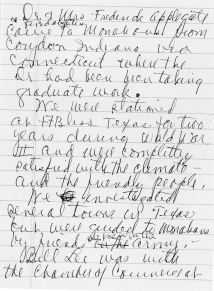 Pg. 1, Applegates in Monahans, written by Maggie