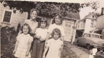 Barb, Sue, Rica, Grace, Mary Ann Kirkham 1947