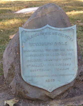 Benjamin Cole memorial stone