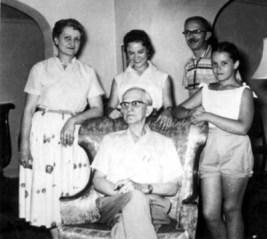 Dolores, Bill, Dee Ann, VC Patten, Barb Applegate, Morristown, 1957