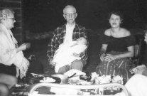 Grandmother Bobbie, Grandfather Patty Doc, Ann and Pete, 1955