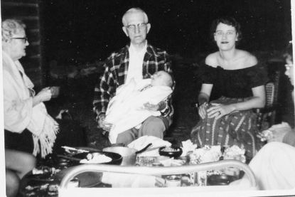 Grandmother Bobbie, Grandfather Patty Doc, Ann and Pete, 1955