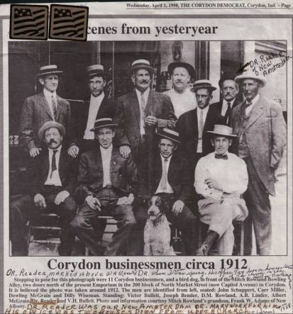 Corydon businessmen, 1912