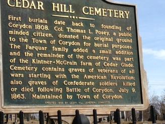 Cedar Hill Cemetery, Corydon, Indiana
