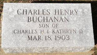 Charles Buchanan baby headstone