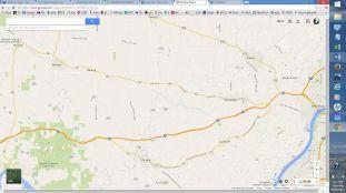 Corydon to Milltown 15 miles; Corydon to Marengo 20 miles; Corydon to New Albany 20 miles; Milltown to Marengo 5 miles