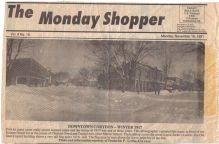 Newspaper clipping about a bad winter in Corydon in 1917