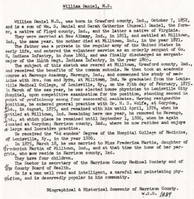 Dr. William Daniel bio