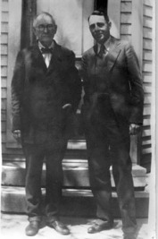 Dr. Wm Daniel and son John Carlton Daniel apx 1920