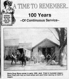 Drug store, 1890
