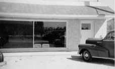 Ted's office in Monahans, 1949