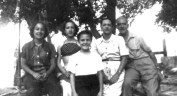 Sue, Rica, Barb, Maggie, Ted, about 1951