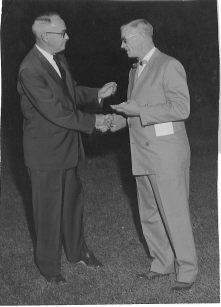 Ted on left, about 1957