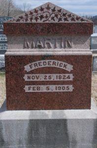 Headstone of Frederick Martin (1824-1905)