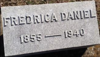Fredrica Martin Daniel headstone