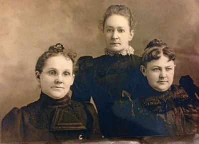 Fredrica Martin Daniel on left, sisters Margaret Martin Weathers, Sophia Martin Eagen
