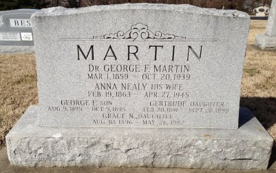 Dr. George F Martin headstone