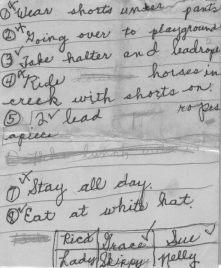 Grace's plan, 1947