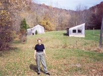 Grace, 1998, at remains of Sibert farm in White Cloud, Indiana