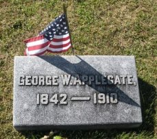 Geo. W. Applegate I, 1842-1910, headstone