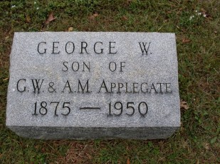Geo Wm Applegate II headstone