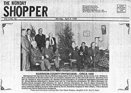 Harrison County physicians, 1940