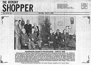 1940 article on Harrison County physicians