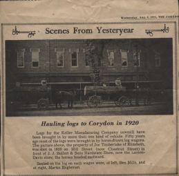Hauling logs, 1920