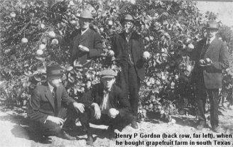 Henry Pond Gordon in Texas