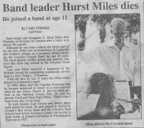 Hurst Miles obituary