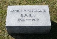 Janice Applegate, 1826-1979, headstone (daughter of Geo. W. Applegate III)