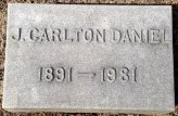 J Carlton Daniel headstone, brother of Grace