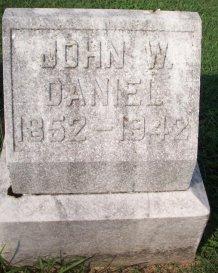 John W Daniel headstone