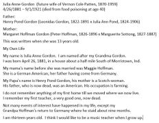 """My Own Life"" written by Julia Anne Gordon in 1894. She was maternal grandmother of the Applegate girls."