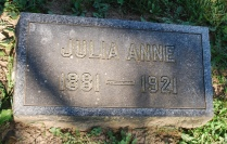 Julia Anne Gordon Patten headstone
