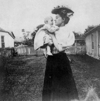 Julia Gordon Patten and baby