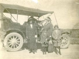 Kathryn Daniel Buchanan, Grace Daniel Applegate, George W Applegate II, Ted Applegate, approx. 1910