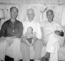 Larry Skylstad, Patty Doc (V.C. Patten), Ted and Pete Skylstad, 1955