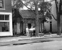 Discovery of log cabin in July 1940, Corydon